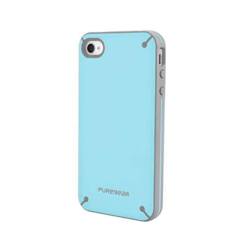 PUREGEAR Slim Shell Case for Apple iPhone 4/4S (Blueberry Cream)