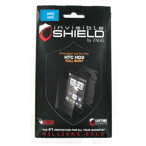 ZAGG invisibleSHIELD Screen Protector for HTC HD2 (Full Body)