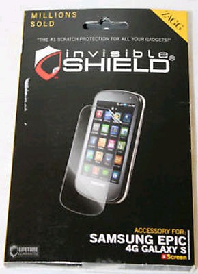 Zagg InvisibleShield Screen Protector for Samsung Epic 4G Galaxy S D700