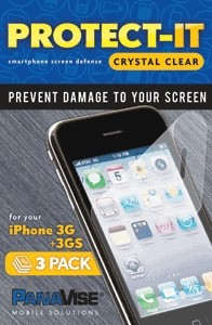 PanaVise Protect-It Screen Protector (3 Pack) for Apple iPhone 3G 3GS