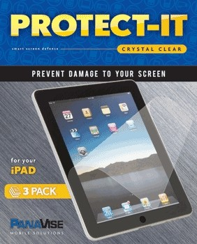 PanaVise Protect-It Screen Protector (3 Pack) for Apple iPad