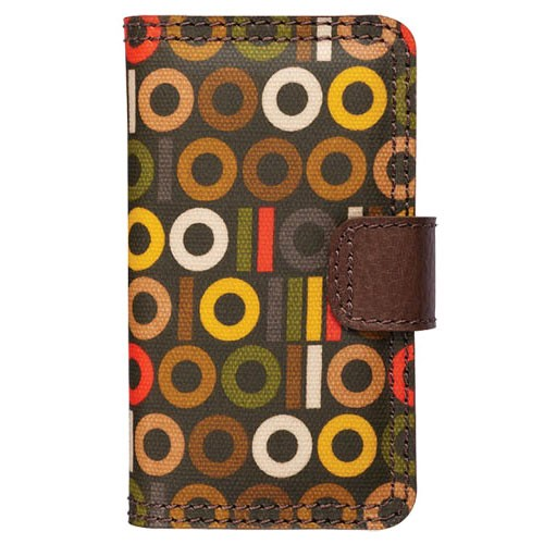 Orla Kiely Rotating Folio Case for Apple iPhone 4/4S, iPhone 3G/3GS (Binary)