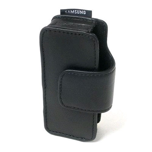 OEM Samsung Universal Leather Pouch for Samsung U810, M320, T109, U940 - Black