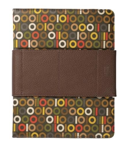 Orla Kiely Binary Rotating Folio for Apple iPad 2/3 (Brown)