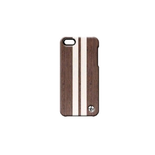 Trexta Wood and Leather Series Snap-On Leather Case for iPhone 5/5s - Wenge