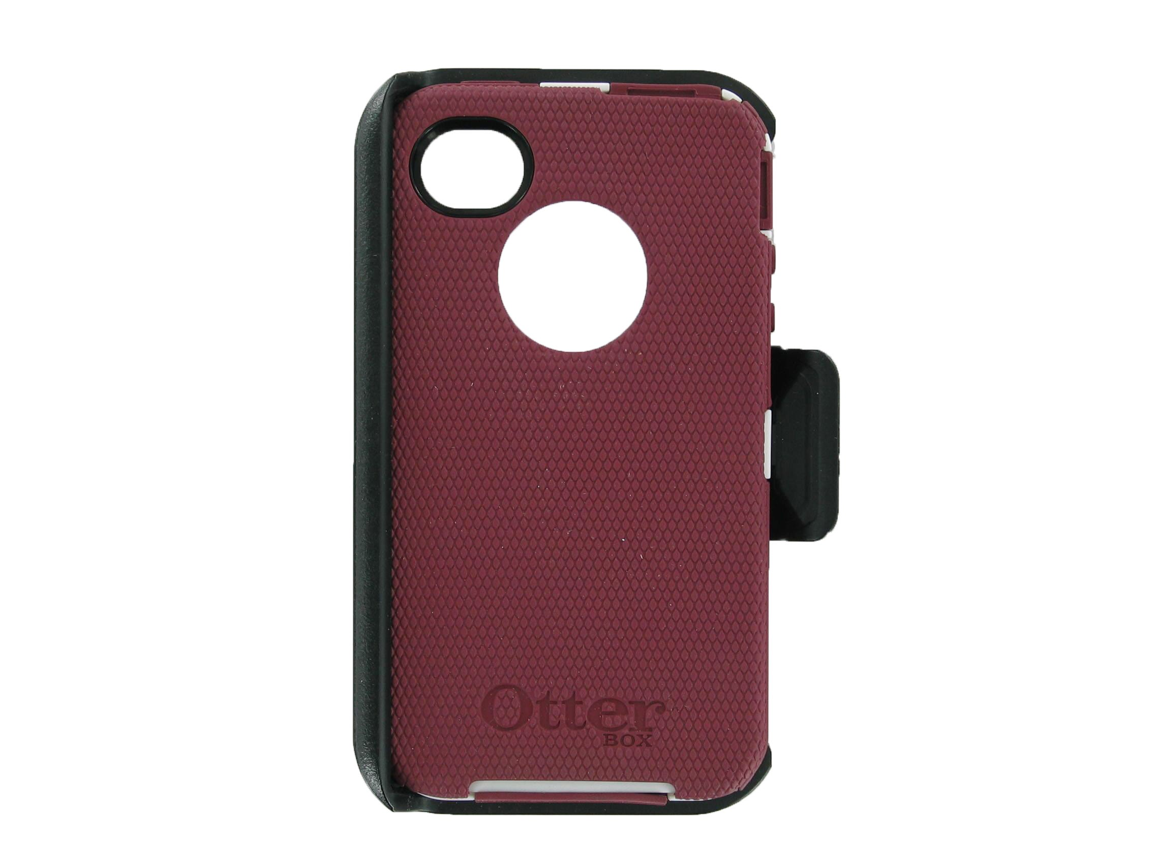 finest selection 35c10 5e7bd OtterBox Defender Series Case for iPhone 4S - Maroon / White