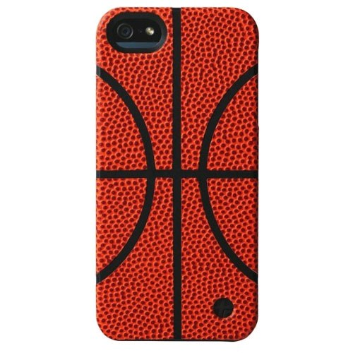 Trexta Sports Series Snap-On Leather Case for Apple iPhone 5/5s - Basketball