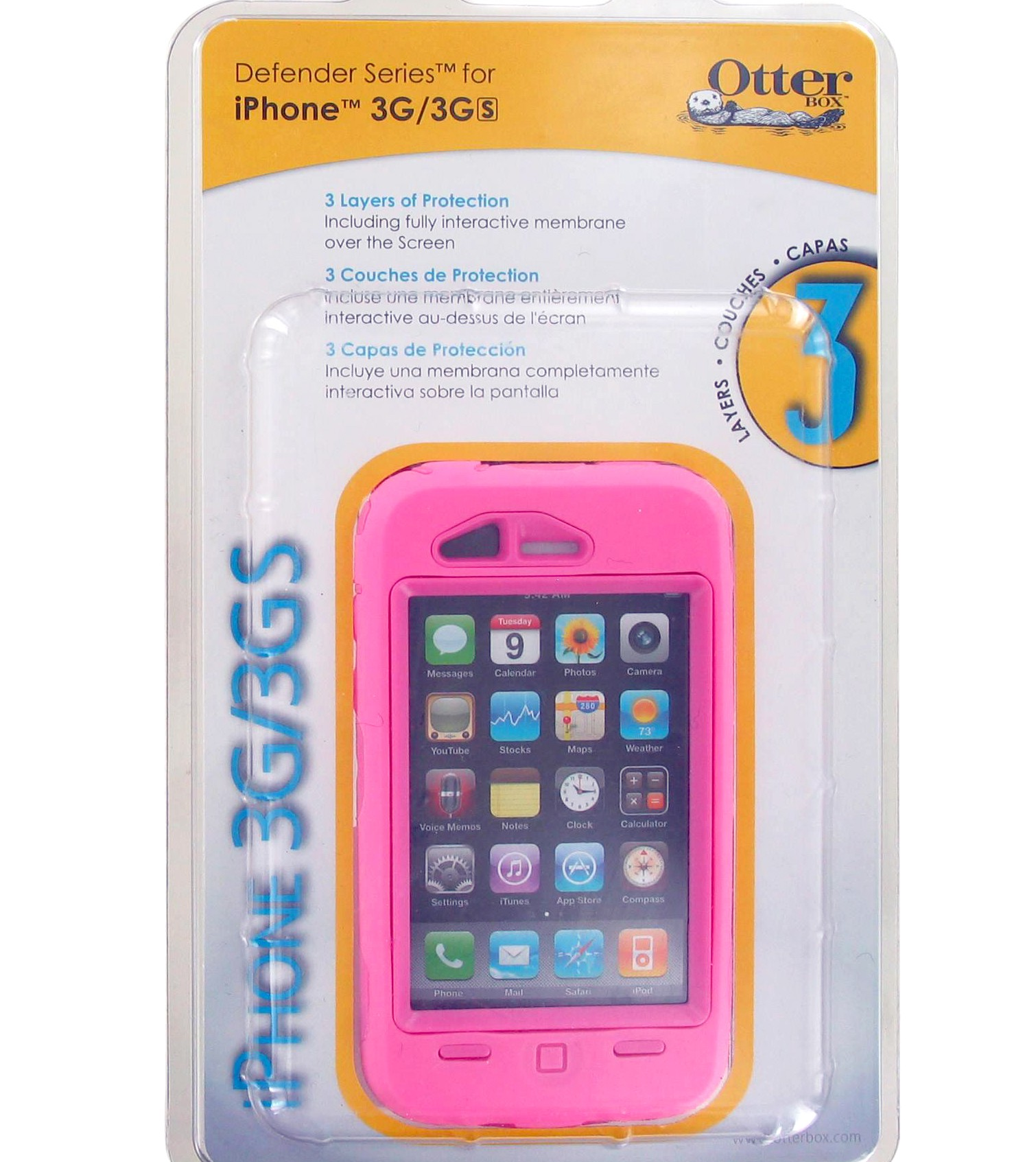 OtterBox Defender Case for Apple iPhone 3G - Pink (1942-02.5)