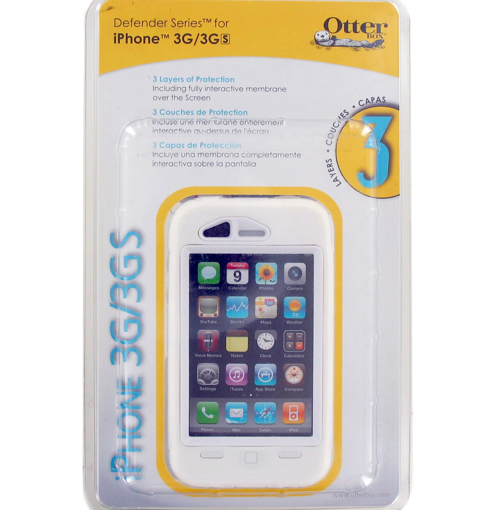 OtterBox - Defender Case for Apple iPhone 3G - White