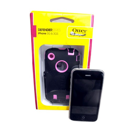 Otterbox Defender Case for Apple iPhone 3G/3GS (Black/Pink)