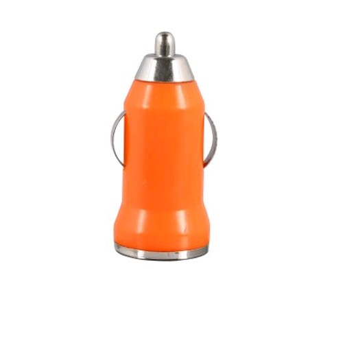 WirelessXGroup USB Car Charger for Most USB Devices (Orange) - 1AUSBCLAOR
