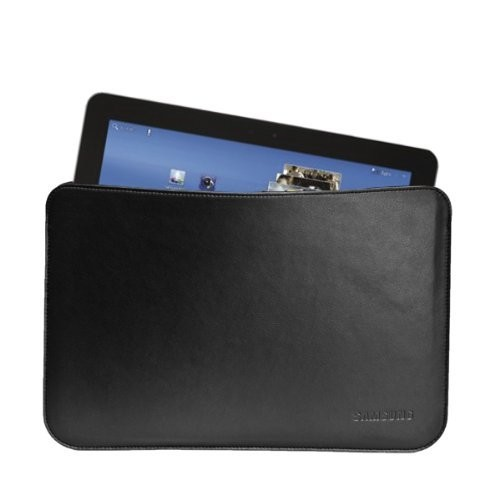 Samsung Original Leather Pouch for Samsung Galaxy Tab 10.1 (Black)