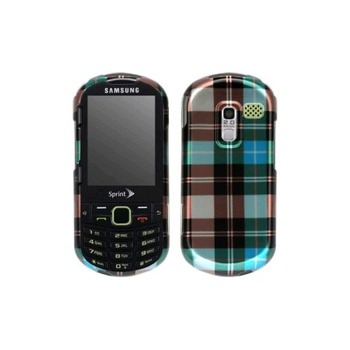 Evercell Snap-On Case for Samsung Restore M570 (Blue Checker)