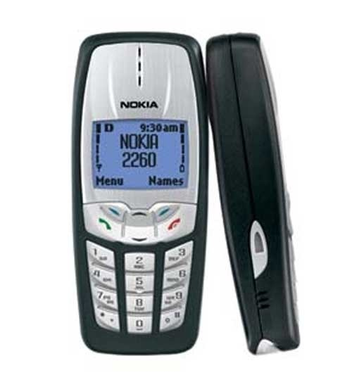 Nokia 2260 LCD, TDMA, Speakerphone Cell Phone (Black)