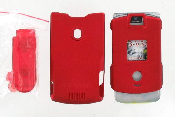 Snap On Case for Motorola RAZR V3 V3c - Burgundy (With Belt clip)
