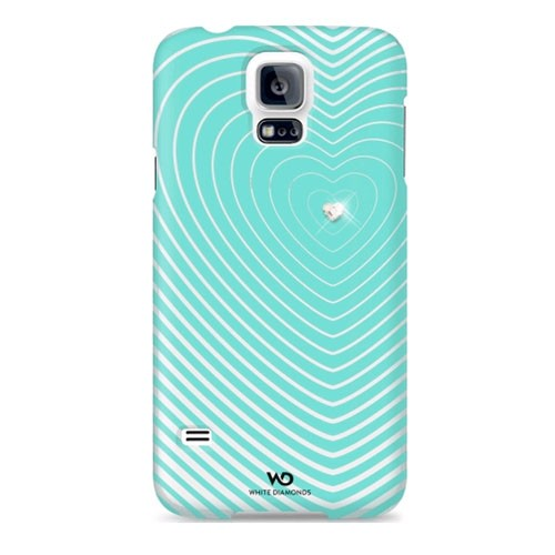 White Diamonds Heartbeat Case for Samsung Galaxy S5 (Mint)