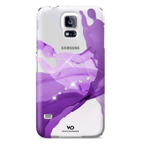 White Diamonds Liquids Case for Samsung Galaxy S5 (Purple)