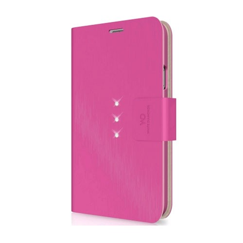 White Diamonds Crystal Wallet for Samsung Galaxy S5 (Pink)