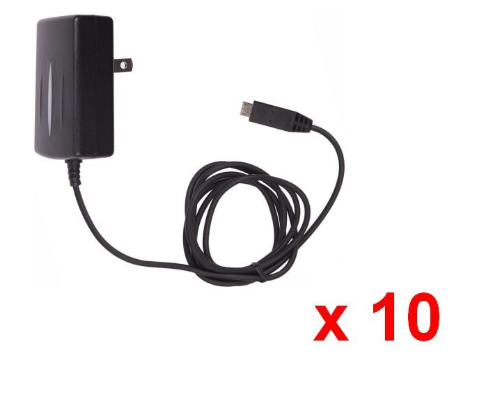 Micro USB Wall Charger for DROID: RAZR XT912, Bionic XT875, Pro XT610, Droid 2 A955 A956, Droid 3 XT862 - 10 Pack