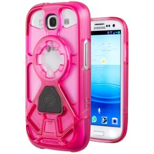 Rokform  - V3 Series Case for Samsung Galaxy S III - Shock Pink w/ Magnet