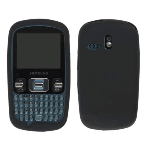 Wireless Solutions Silicone Gel Case for Samsung SCH-R350 (Black)