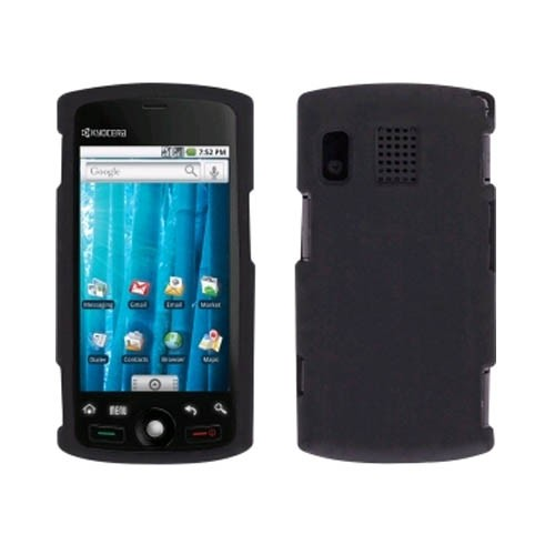 Sprint Smooth Silicone Gel Skin Case for Sanyo SCP-8600, Kyocera Zio M6000 - Black