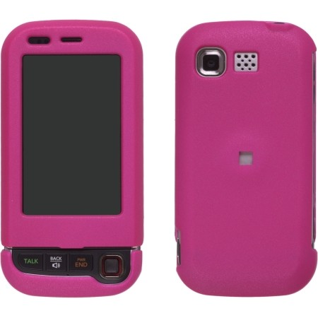 Wireless Solutions Rubberized Case for LG Tritan AX840 UX840 ( Hot Pink)