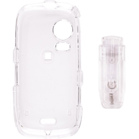 Clear Snap-On Case with Belt Clip  for Samsung M850 Instinct HD