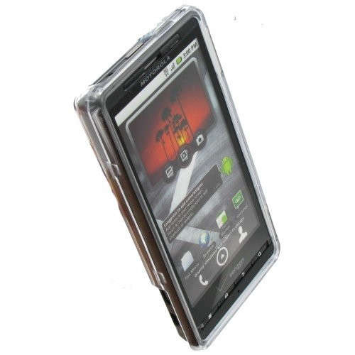 Clip-on Clear Polymer Crystal Case for MB810 DROID X