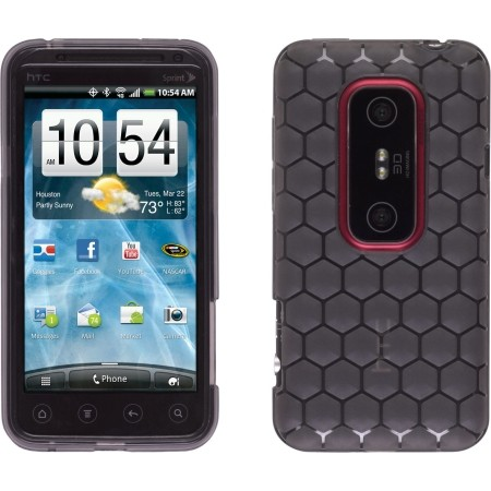 Wireless Solutions Honeycomb Dura-Gel Case for HTC EVO 3D (Smoke)