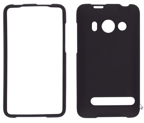 Wireless Solutions Soft Touch Snap-On Case for HTC EVO 4G - Black
