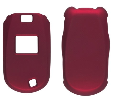 Wireless Solutions Soft Touch Snap-On Case for LG Revere VN150 - Dark Red
