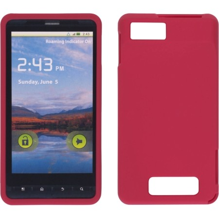 Wireless Solutions Soft Touch Snap-On Case for Motorola Droid X2 MB870 - Red
