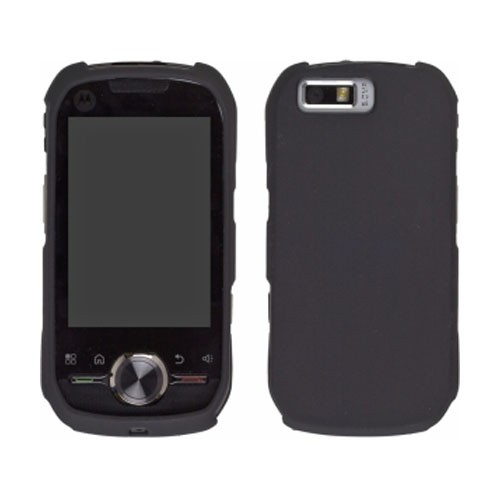 Two piece Soft Touch Snap-On Case for Motorola i1 - Black