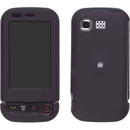 Black Rubberized Snap-On Case for LG AX840  UX840 Tritan