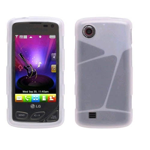 Wireless Solutions Silicone Gel Case for LG Chocolate Touch VX8575 - Clear