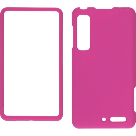 Wireless Solutions Soft Touch Snap-On Case for Motorola Droid 3 XT862, Milestone 3 XT861 - Hot Pink