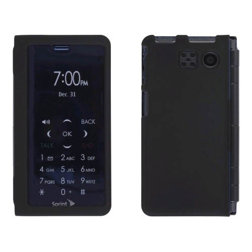 Sprint Two piece Soft Touch Snap-On Case for Sanyo Innuendo SCP-6780 - Black