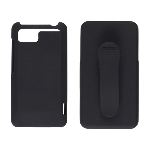Wireless Solutions Holster/Shell Combo Soft Touch Snap-On Case for HTC Vivid