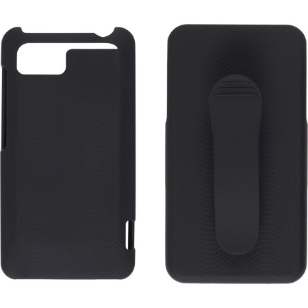 Wireless Solutions Holster/Shell Combo Soft Touch Snap-On Case for HTC Vivid - Black