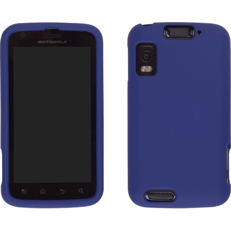Wireless Solutions Two Piece Soft Touch Snap-On Case for Motorola Atrix 4G - Cobalt Blue