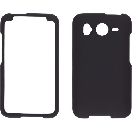 Black Soft Touch Snap-On Case for HTC Inspire 4G