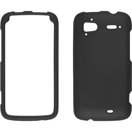 Wireless Solutions Soft Touch Snap-On Case for HTC Sensation (Black)
