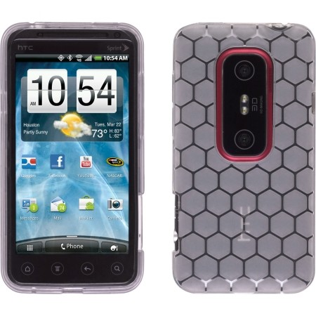 Wireless Solutions Dura-Gel TPU Case for HTC EVO 3D (Clear Honeycomb)
