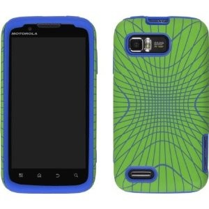 Wireless Solutions Illusion Snap-Gel Case for Motorola Atrix 2 MB865 - Blue/Green