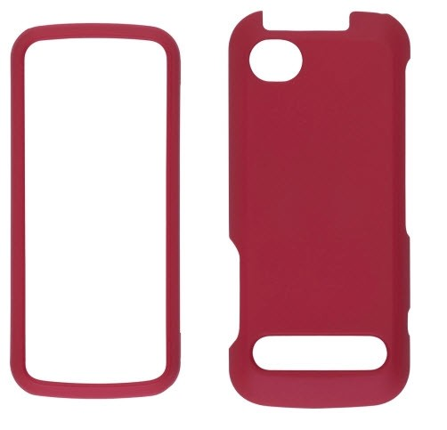 Wireless Solutions Soft Touch Snap-On Case for Motorola i886  (Dark Red)