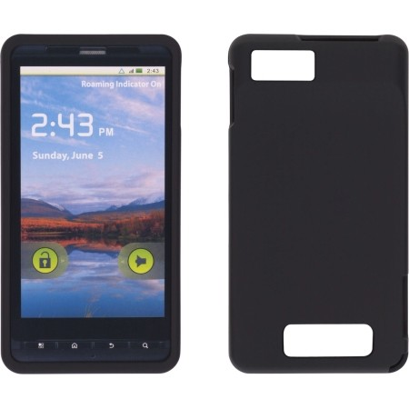 Wireless Solutions Soft Touch Snap-On Case for Motorola MB870 DROID X2 (Black)