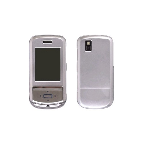Wireless Solution - Metallics Snap-On Case for LG Shine II GD710 - Titanium Gray