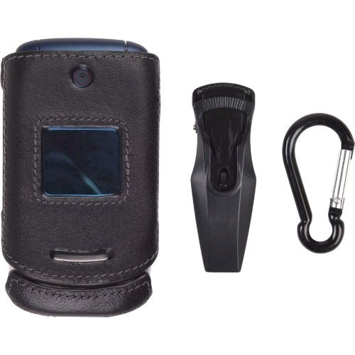 Wireless Solutions Clip-On Case for Motorola EM330 (Black)