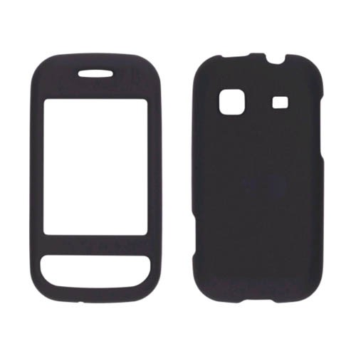 Sprint Two piece Soft Touch Snap-On Case for Samsung Trender SPH-M380 - Black